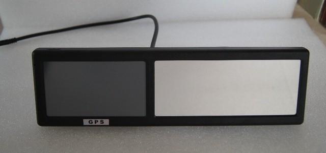 4.3 ''espelho retrovisor monitor do carro com construído em GPS suporta muitas línguas HD GPS monitor espelho retrovisor com muitos funtions