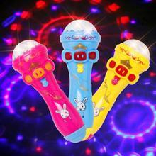 Детские эмуляционные игрушки Забавный светильник ing Беспроводная модель микрофона Подарочный светильник игрушки для детей Подарки