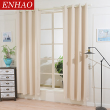 ENHAO Modern Solid Blackout Curtains for Living Room Bedroom Kitchen Curtains for Window Finished Curtains Drapes Blinds Decor lism solid blackout curtains for the living room bedroom the kitchen modern window curtains finished drapes treatment blinds