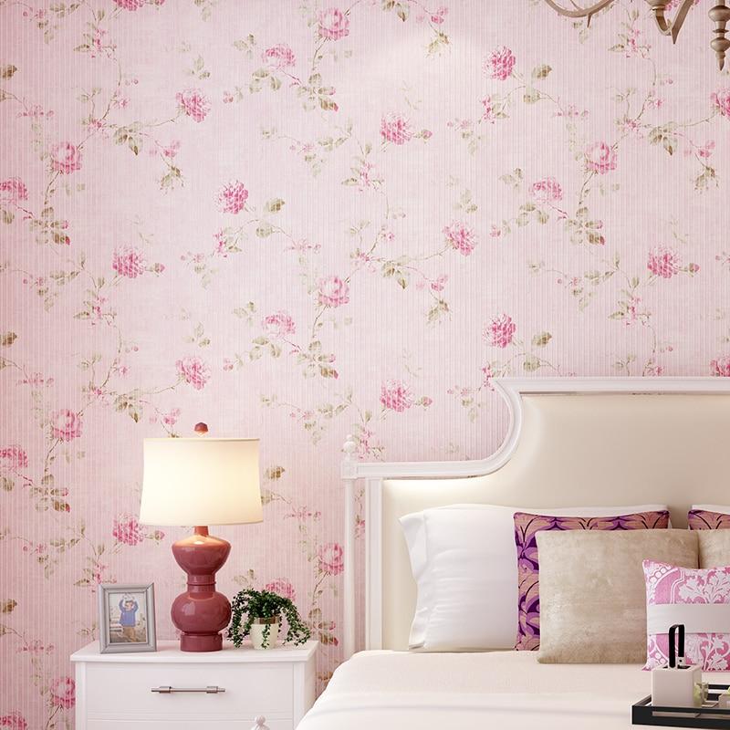 korean walls flower 3d pink background roll mini wallpapers wall paper stripe sofa