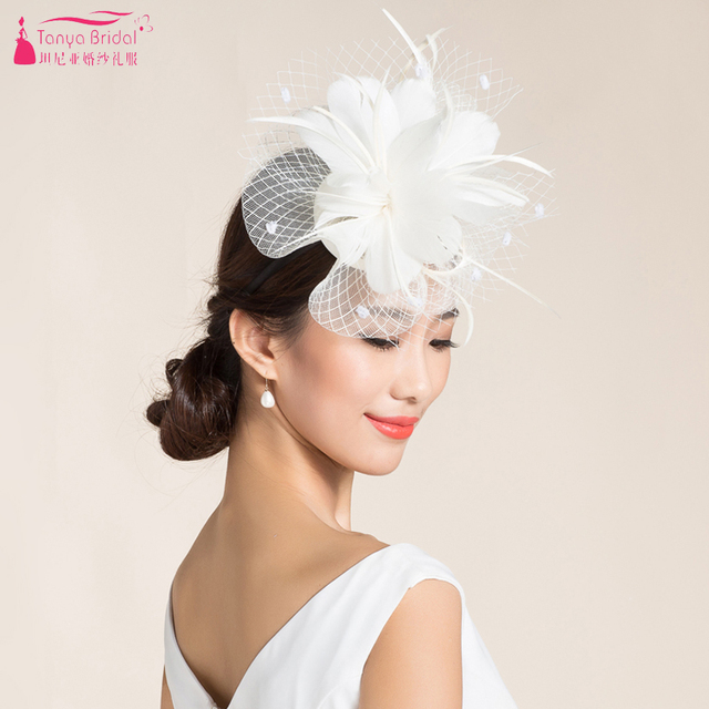aca9d36673c01 Beige and Black wedding hats Evening Hats Women Elegant formal hair  accessories Cheap Special Occasion Wear
