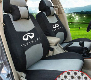 Embroidery Logo Dedicated Car Wraparound Seat Cover Front Rear 5 Seats Set For INFINITI Q50 Q70 ESQ QX EX JX FX Free Shipping In Automobiles Covers