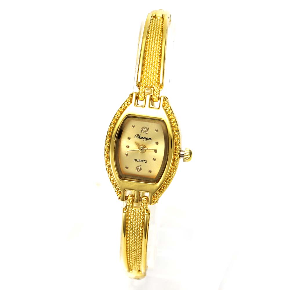 Chain Women's Fashion Gold Color Quartz Watches Hand Necklace Stainless Steel Br