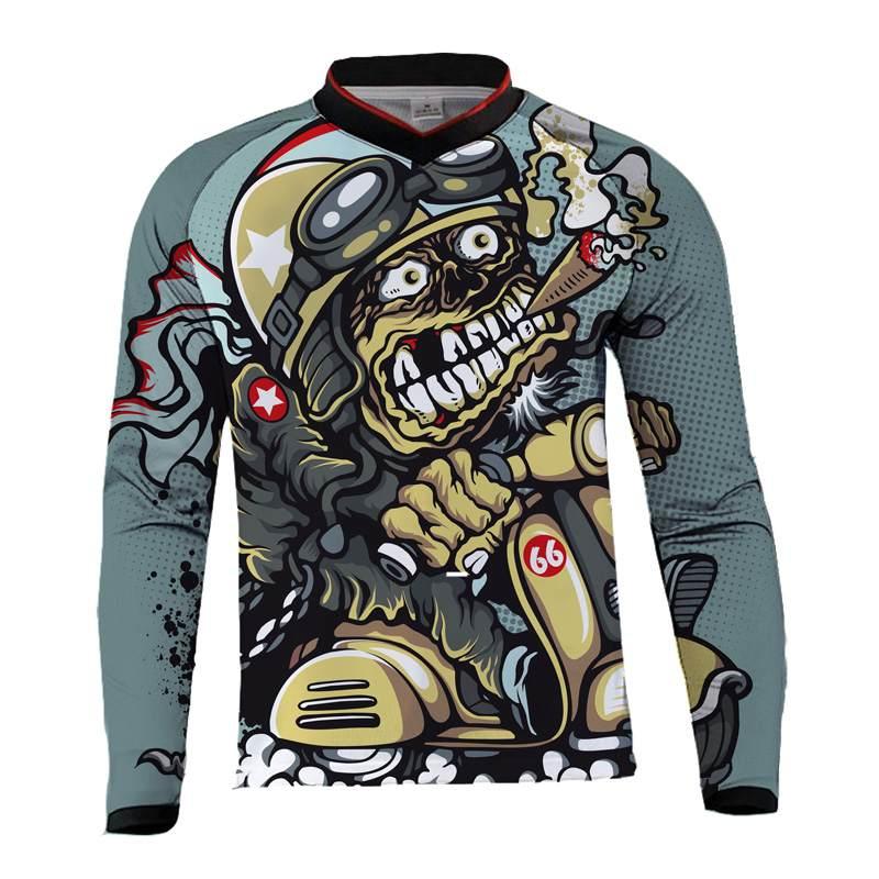 Motorcycle Jerseys Moto XC Motorcycle Summer Mountain Bike Motocross Jersey XC BMX DH MTB T Shirt Clothes