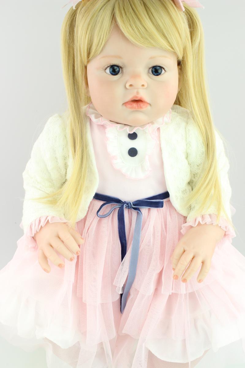 70 cm Silicone Reborn bébé poupée réaliste grande taille princesse bébé Reborn poupée jouet noël anniversaire cadeaux infantile vêtements modèle