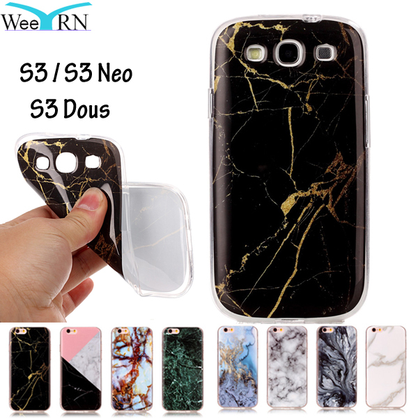 GT-I9300 GT-I9300I GT-I9305 Cover Marble Effect Soft Silicon Case Cover For Samsung Galaxy S3 S3 Neo S3 Dous Case TPU Capa Funda