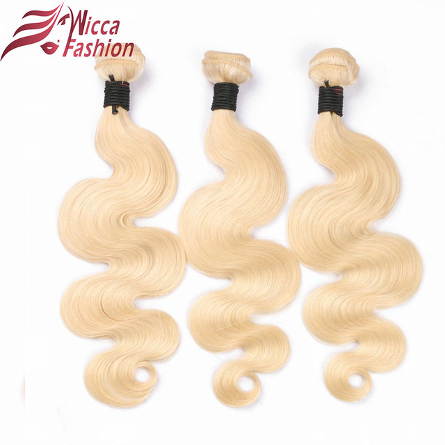 Dream Beauty Brazilian Body Wave Non Remy human Hair Weft 1 PC #613  long blonde Human Hair Weave hair Bundles