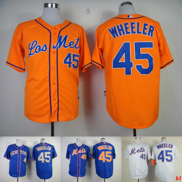 finest selection 76ff0 86464 45 Zack Wheeler Jersey Mets Blue White Pinstripe Orange Zack ...