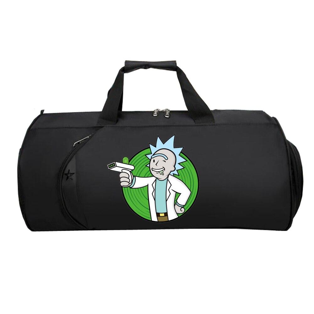 Men Travel Luggage Bag Teenagers Large Multifunction Suitcase Shoulder Tote Bag Luggage Handbag Bag For Hot Anime Rick And Morty