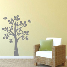 YOYOYU 40 colors Art Vinyl wall sticker Birds in Love Tree Removeable Wall decal Bedroom Saloon Decor Poster ZX104