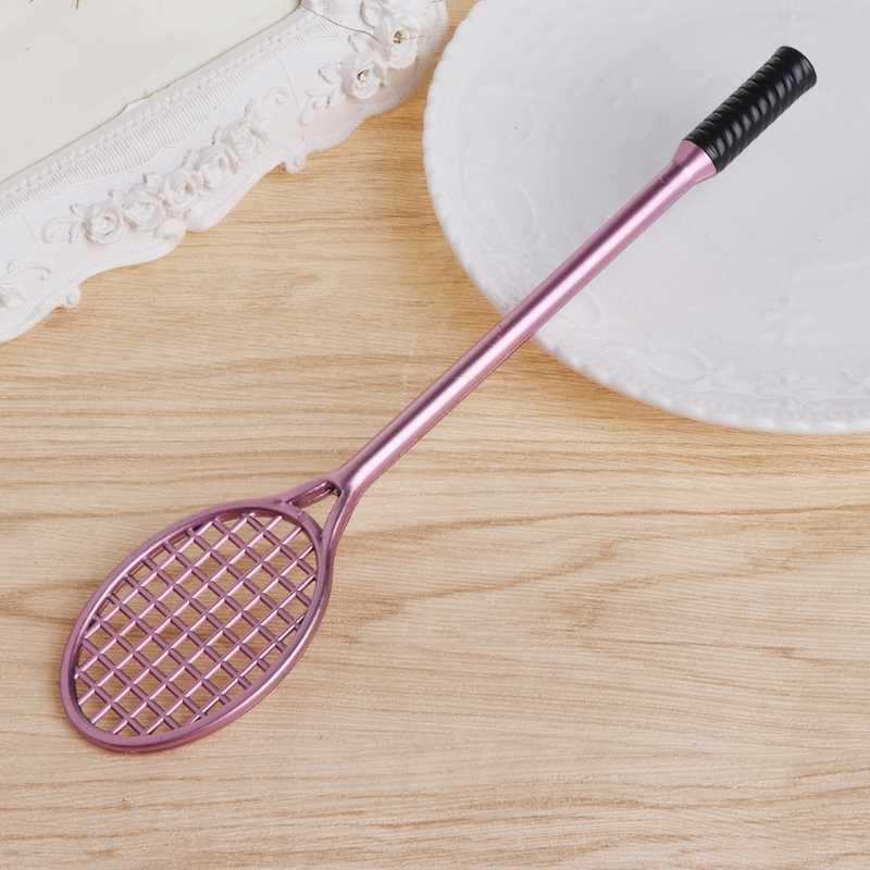 Mini paletka do badmintona szlamowa forma kryształowa zestaw do gleby zagraj w długopis żelowy