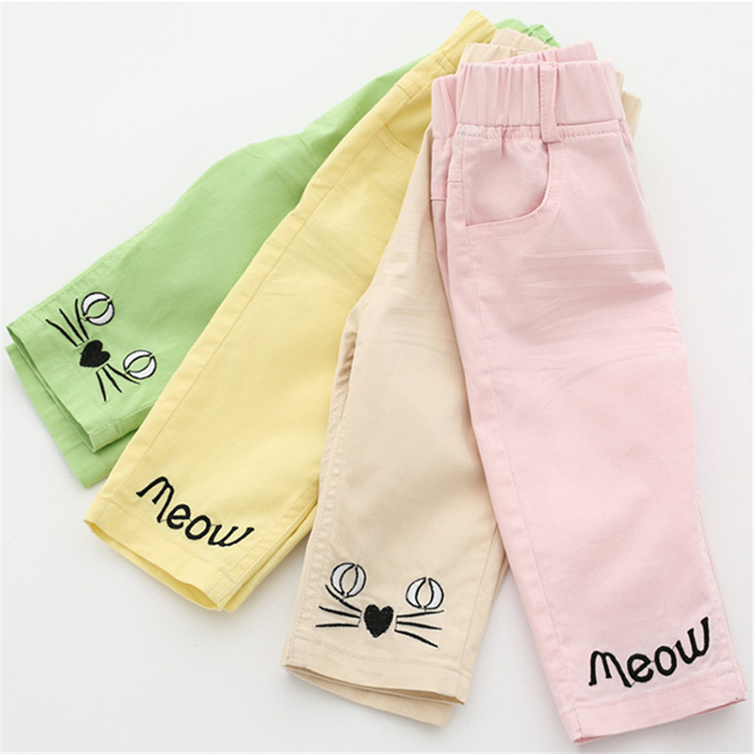 2-8 jaar kinderen meisjes capri leggings zomer meisje broek - Kinderkleding - Foto 2