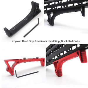 Aplus Black/Red Color_Aluminum Handstop Tactical Keymod Style Hand Grip Kit Ultralight Anoidzed Free Shipping(China)