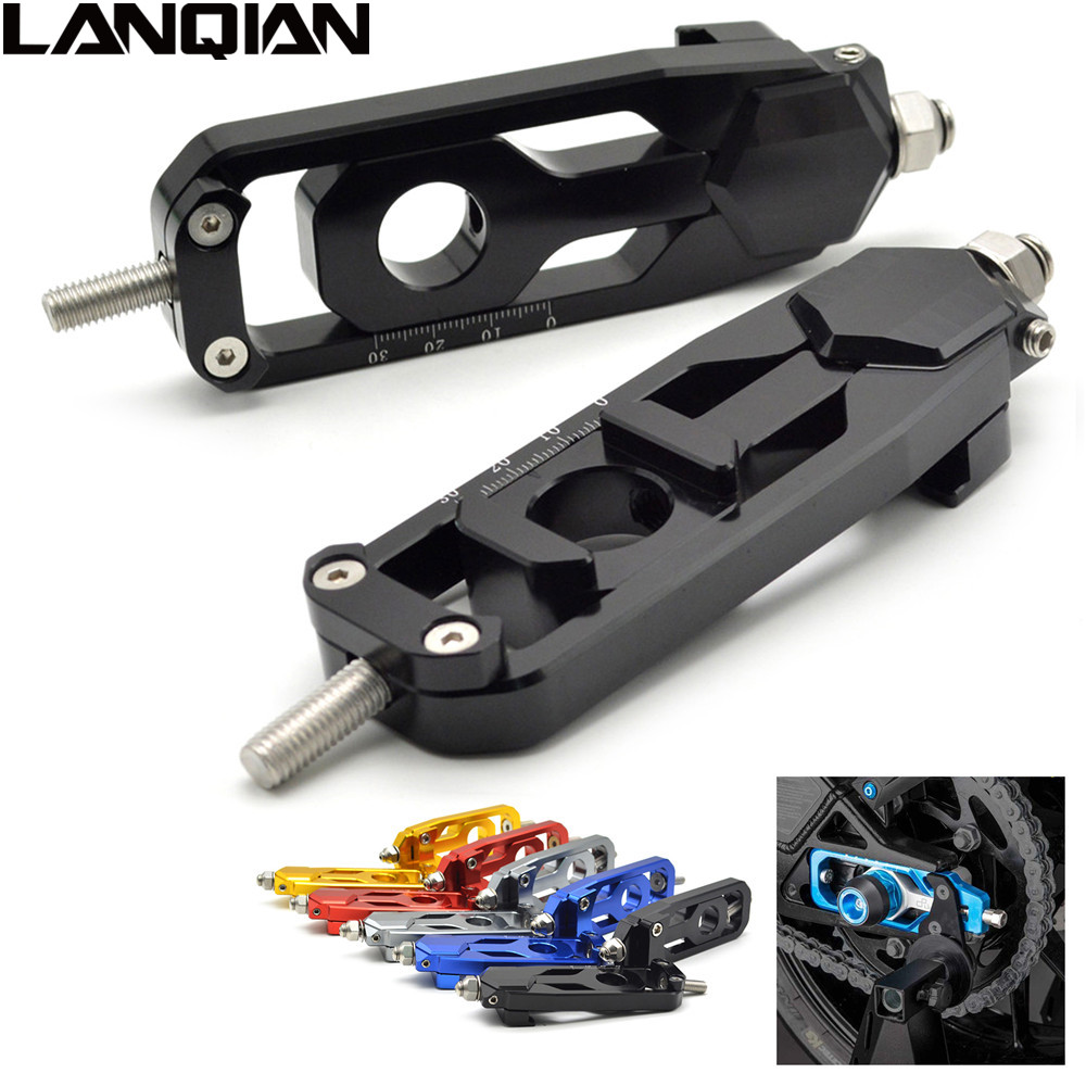 CNC Aluminum Chain Adjusters Tensioners Catena For YAMAHA MT09 FZ09 2014 2015 MT-09 FZ-09 MT FZ 09 FJ-09 FJ09 Black/Blue/Red