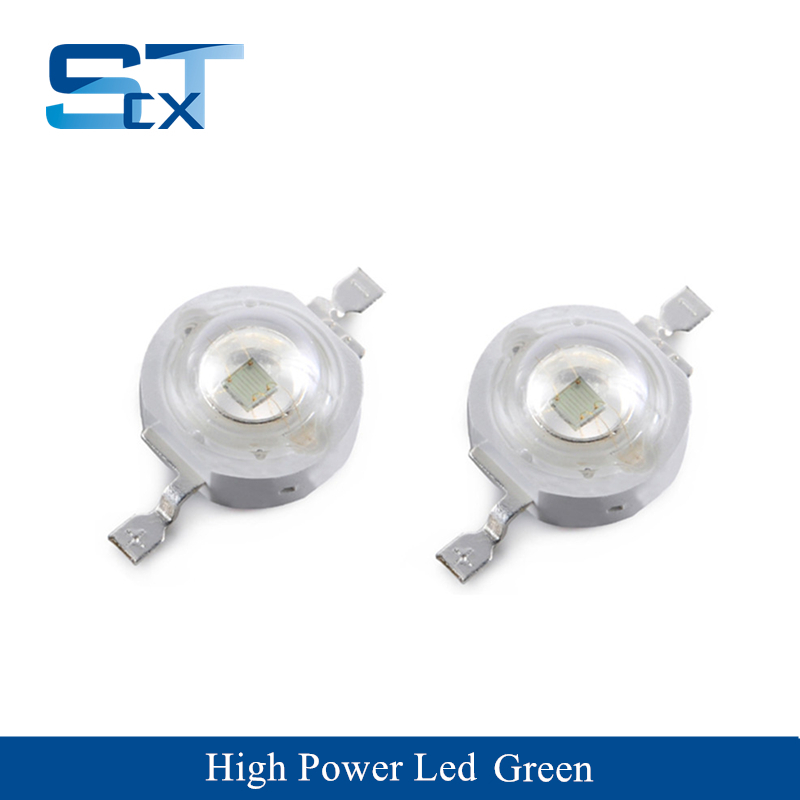 50PCS High Quality Wholesale Price 1W High Power LED Green Color 510-525nm For Stage Light Grow Light Wall Washer Traffic Light
