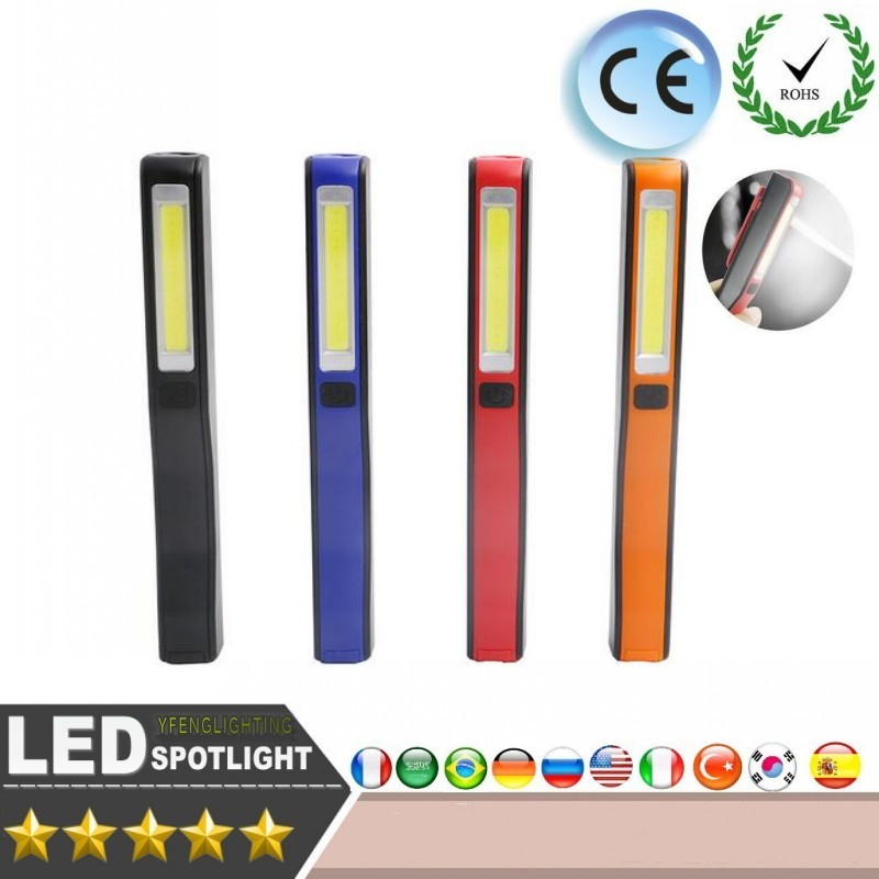 Cob Led Worklight Inspection Lamphand Tool Garage: LED Flashlight COB LED Work Light Inspection Lamp