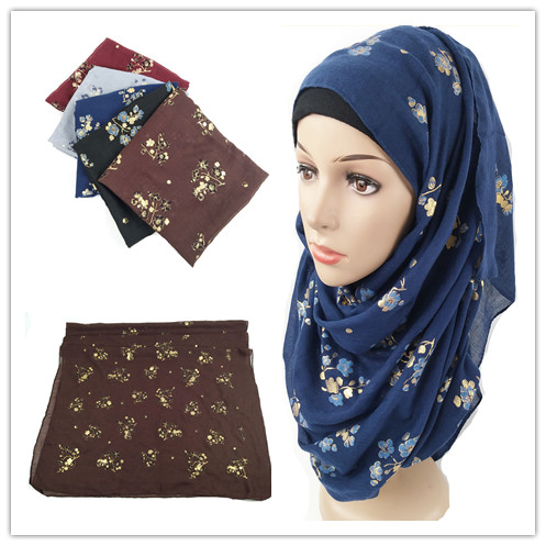 L9 High quality flower viscose   scarf   hijab shawl lady   scarf  /  scarves     wrap   headband 180*90cm 10pcs/lot can choose colors