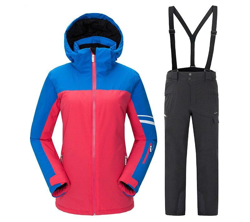 VECTOR women's ski suit outdoor thermal sports warm waterproof windproof snow suit women's color suit hiking ski suit suit lemoniade suit