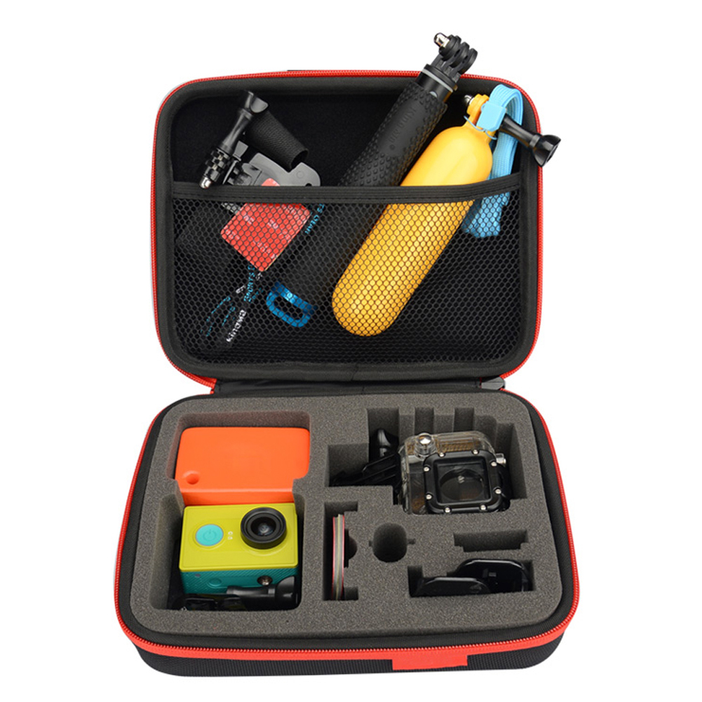 Medium Size Carrying Case Portable Waterproof Shockproof Camera Kit Storage bag box for SONY GoPro Camera