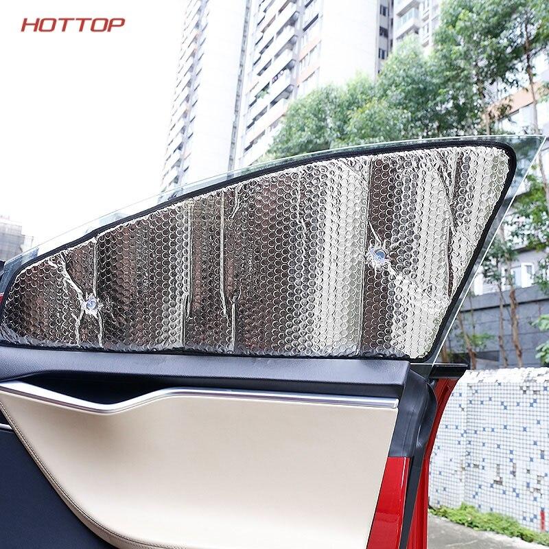 Cubierta protectora todoterreno con revestimiento de plata, parasol para coche de verano, parabrisas/ventana lateral, luz solar para el modelo S - 3