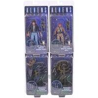 NECA ALIENS LT.Ellen Ripley Private Jenette Vasquez Xenomorph Warrior PVC Action Figure Collectible Toy 4 Styles