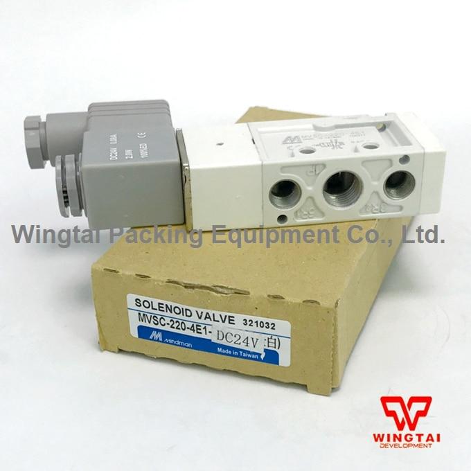 New DC24V Taiwan Mindman MVSC-220-4E1 Solenoid Valve new mindman solenoid valve mvsd 180 4e1 mvsd1804e1 coil ac220v
