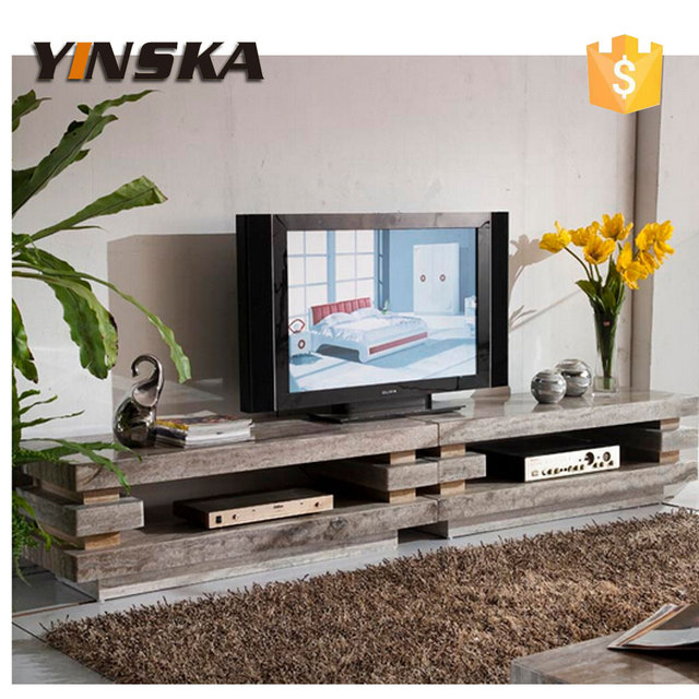 Big Size French Style Modern TV Stand Marble Design D3322