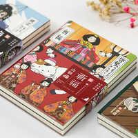 Retro Kitty Notebook Kawaii Cartoon Planer Sketch Weiche Abdeckung Vintage DIY Tagebuch Kugel Journal Agenda 2019 Schule Japanischen