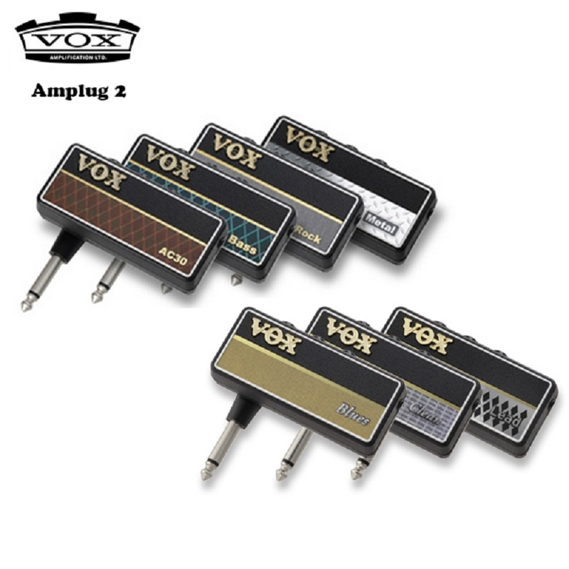 Vox Amplug 2 Guitar Bass Headphone Amplifier All Models AC30 Classic Rock Metal Bass Clean Blues