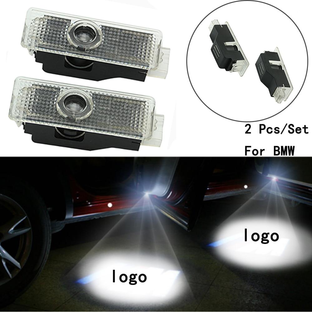 With Logo Lens Include 2Pcs/Set LED Courtesy Weclome Lamp Only For BMW E60/E90/F10/F30/F15/E63/E64/E65 Ghost Shadow Projetor