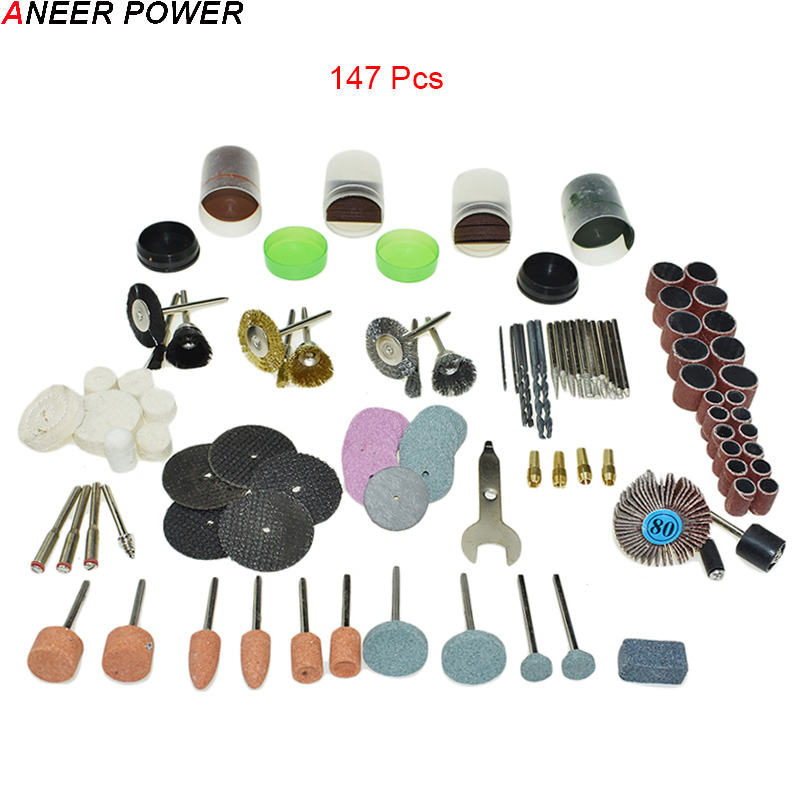 147pcs/ Dremel Engraver Abrasive Tools Accessories Rotary Tool Accessory Set Fits For Dremel Drill Grinding Polishing