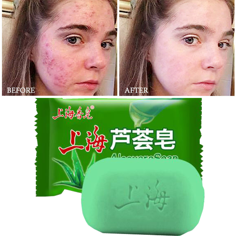 99% Aloe Soothing Gel Aloe Vera Gel Skin Care Remove Acne Soap Moisturizing Body And Facial Soap Sunscreen Aloe Gel 85g