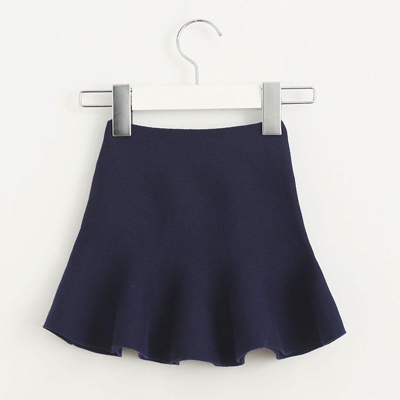 Wool knit solid short skirt girls half skirt 2017 new Korean children\'s clothing children\'s skirt (11)