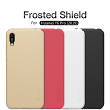 Huawei Y6 Pro 2019 Case NILLKIN Super Frosted Shield PC Plastic Hard Phone Cases For Back Covers With Holders