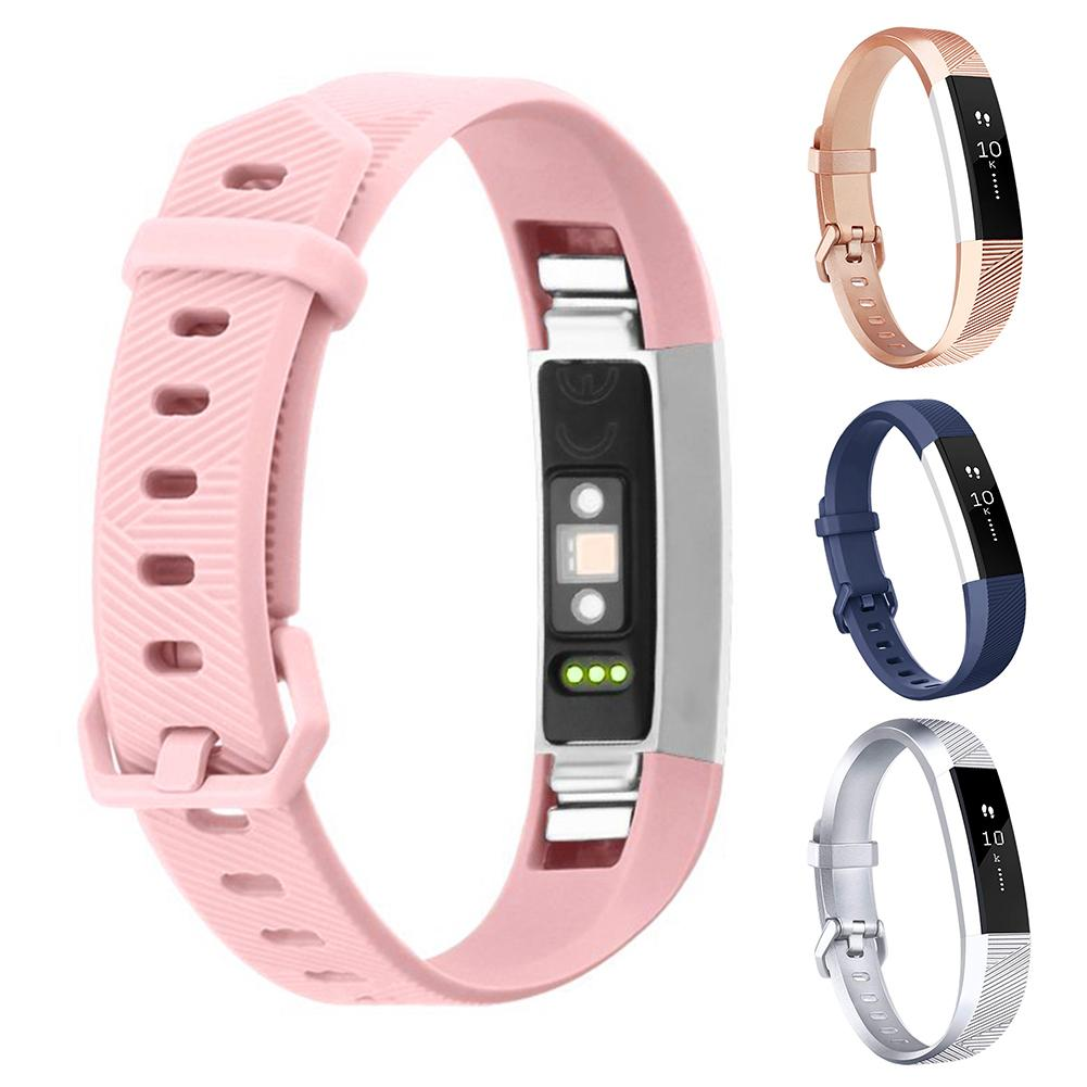 New Arrival Replacement Silicone Adjustable Sport Watch Band Wrist Strap for Fitbit Alta HR image