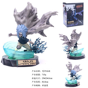 Image 5 - 2019 Uchiha Sasuke VS Naruto Susanoo Blue Nirvana Thunder Curse Second Form PVC Action Figure Collection Model Toy 18cm