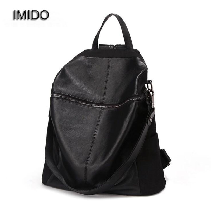 IMIDO 2017 New Brand design oxford leather backpacks women bags travel backbag safe casual shoulder backpack girl escolar SLD010
