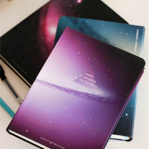 Diy Galaxy Book Cover : New notebook of galaxy sketch book notepad the
