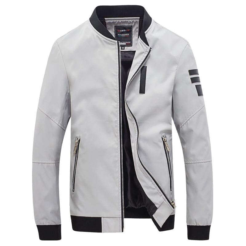 Mens Lightweight Bomber Jacket Casual Windbreaker Slim Fit Zip Up Outerwear Coat
