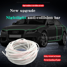 5M Car Styling Auto Door Edge Guard Scratch Strip Protector Anti Collision Rubber Nightlight anti-collision bar car door rubber anti collision scratch proof bar strip 4pcs
