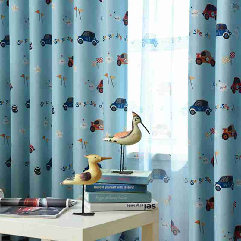Great Customized Cartoon Blackout Curtains For Kids Bedroom Cars Curtain Tulle  Blue/Beige Curtains Drape For Living Room 229u002630 In Curtains From Home U0026  Garden On ...