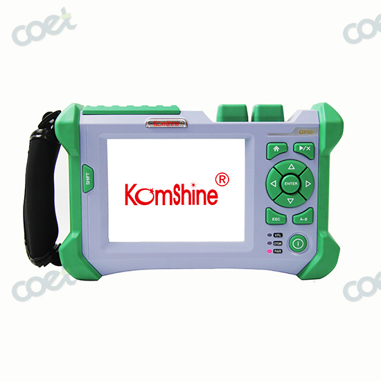 Spanish Languages KOMSHINE QX50-MS Singlemode and Multimode 850nm+1310/1550nm 21/30/28dB Come with FC+SC+LC Adaptors