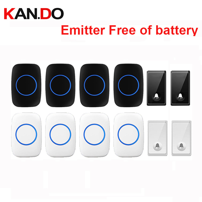 new bell set 2 transmitter 4receiver wireless door bell emitter free of battery wireless doorbell ip44 200M work chime door ringnew bell set 2 transmitter 4receiver wireless door bell emitter free of battery wireless doorbell ip44 200M work chime door ring
