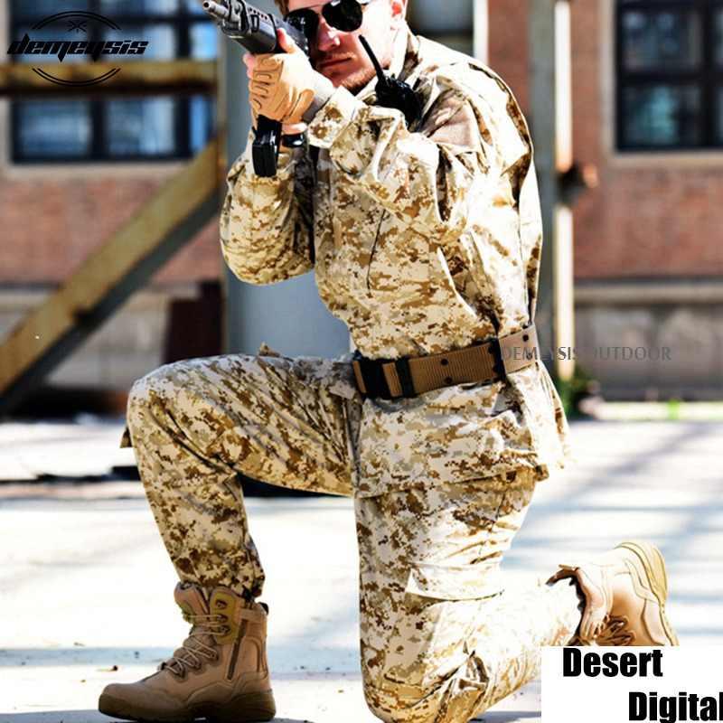 Пустынная камуфляжная военная форма, боевая униформа Мультикам, БДУ, военная форма для охоты, Wargame, пальто + штаны