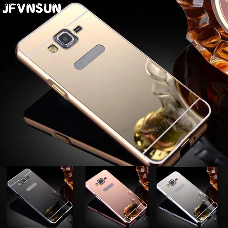 Galleria fotografica J3 (6) Case for SAMSUNG Galaxy J3 2016 J320 J3109 NEW Acrylic Plating Mirror + Aluminum Frame Phone Cover Fundas for Samsung J3