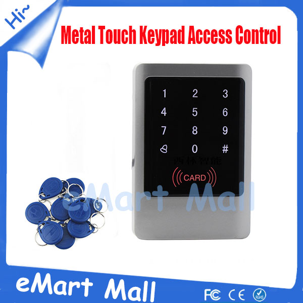 ФОТО Waterproof Keypad Metal Touch Keypad Access Control ID/EM Password  rfid Access Control Can be as Wiegand Reader