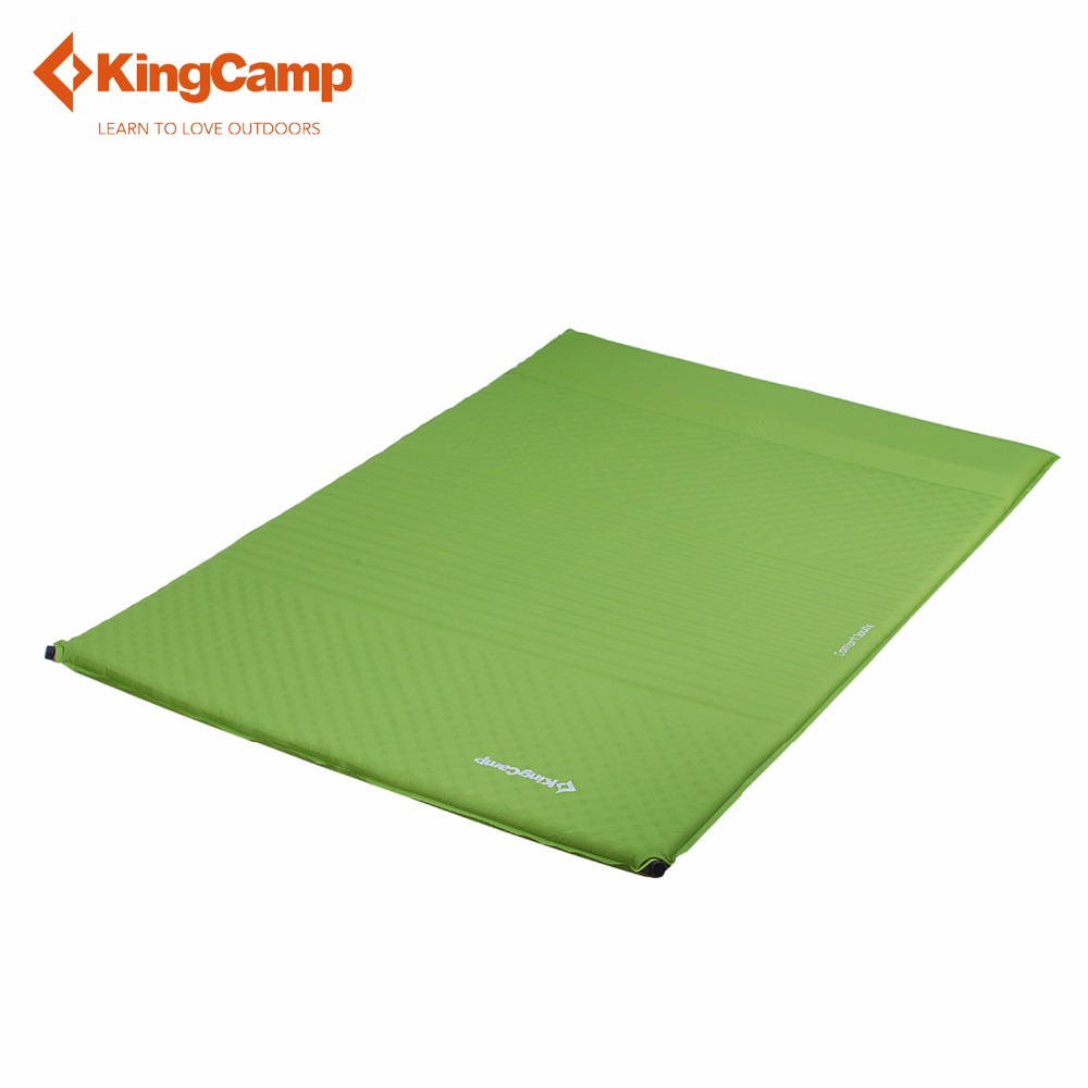 US $202 65 24% OFF|KingCamp Colchon Inflable Camping Double Eco friendly  Self Inflating 100%Polyester TPU Coating Comfort Camping Mat Mattresses-in