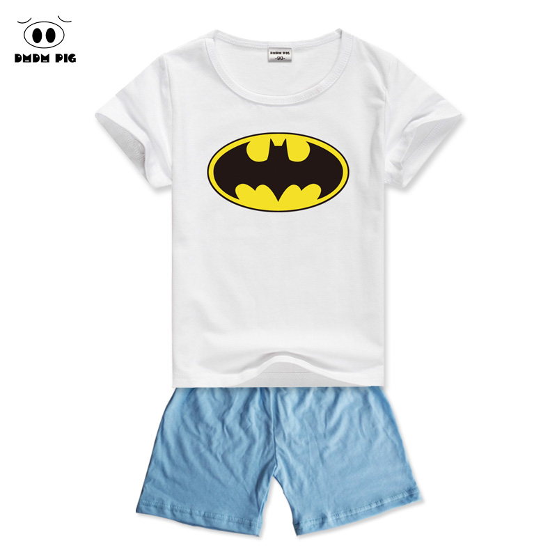 DMDM PIG Spiderman Kids Baby Clothes Sets Clothing Sets For Boys Girls Clothes Childrens Sports Suits For Boys Costume Child