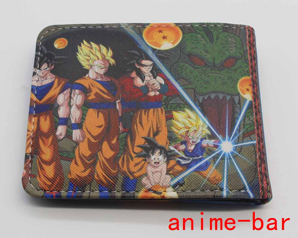 CHARACTERS PRINTED PU BI-FOLD BLACK AND ORANGE WALLET OFFICIAL DRAGON BALL Z
