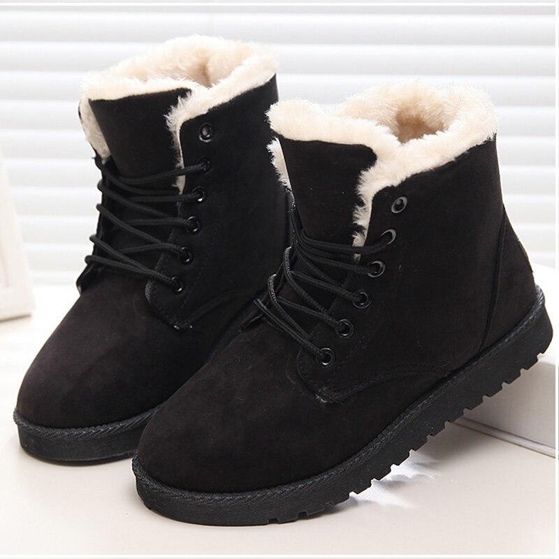 Mujeres Botas zapatos de invierno Mujer Super caliente Botas de nieve de las mujeres tobillo Botas para Mujer zapatos de invierno Botas de Mujer de zapatos